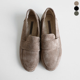 SH0994/Simple Basic Suede Fur Loafer