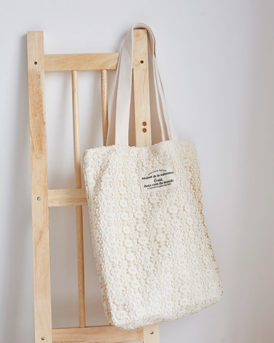 BAG3060/Lace Shoulder Eco Bag